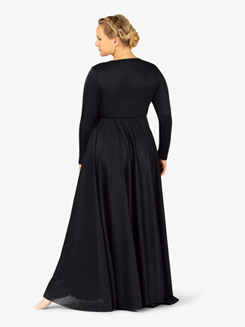 Womens Flowy Plus Size Worship Dress