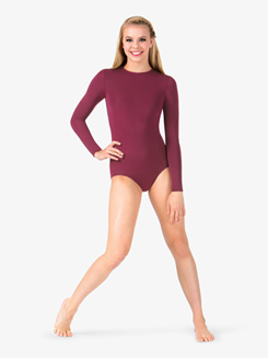 Womens Boatneck Long Sleeve Leotard
