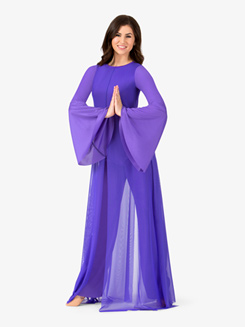 Womens Mesh Plus Size Worship Jumpsuit