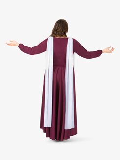 Womens Plus Size Attached Scarf Worship Dress