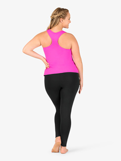 Womens Plus Size Team Basic Compression Dance Tank Top