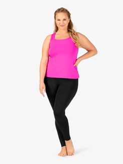 BalTogs Womens Plus Size Team Basic Compression Dance Legging