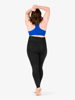 Womens Plus Size Team Basic Compression High Waist Dance Legging