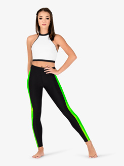 Womens Team Three-Tone Compression Leggings