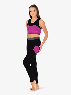 Womens Team Contrast Compression Leggings