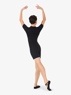 Boys Two-Tone Mock Neck Dance Shorty Unitard