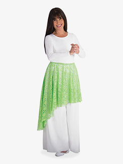 Adult Plus Worship Asymmetrical Lace Skirt