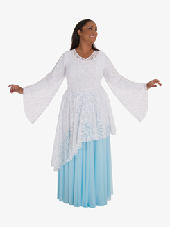 Adult Worship Draped Lace Tunic