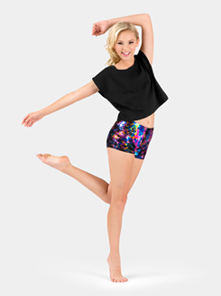 Girls Printed Dance Shorts