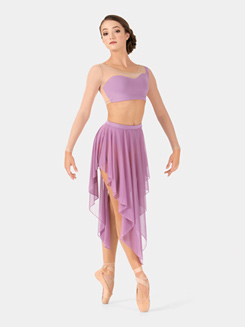 Adult Mesh Hi-Lo Performance Skirt