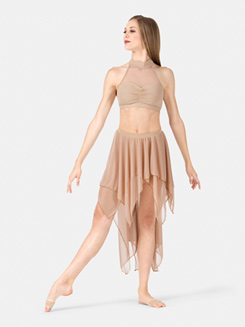 Adult Layered Mesh Hi-Lo Performance Skirt
