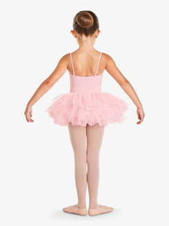 Girls Mesh Insert Camisole Tutu Dress