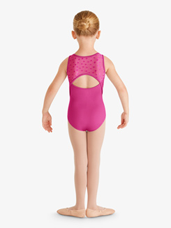 Girls Tank Heart Mesh Sweetheart Leotard