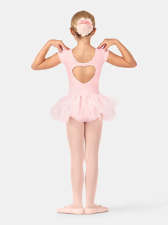 Child Heart Back Cap Sleeve Tutu Dress