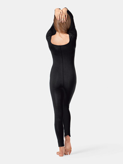 Adult Scoop Neck Cotton Long Sleeve Unitard