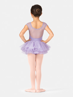 Girls Cap Sleeve Tutu Dress