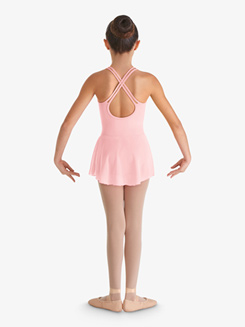Girls Camisole Crisscross Heart Mesh Ballet Dress