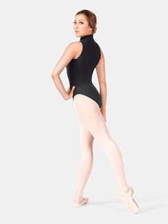 Adult Mock Neck Cotton Tank Leotard