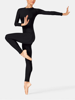 Adult Long Sleeve Crew Neck Unitard With Back Zipper