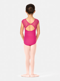 Girls Cap Sleeve Bow Back Leotard