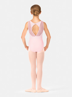 Girls Mesh Back Tank Leotard