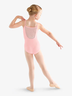 Girls Rhinestone Back Camisole Leotard