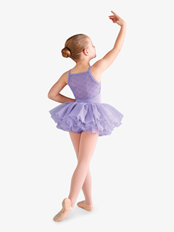 Girls Diamond Mesh Camisole Ballet Tutu Dress