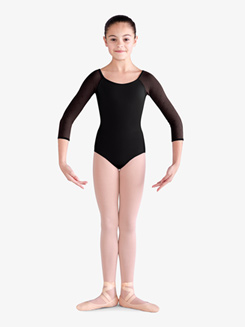 Girls Diamond Mesh Dual Keyhole Leotard