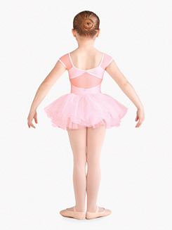 Girls Daisy Mesh Short Sleeve Ballet Tutu Dress