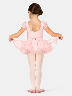 Girls Okalani Satin Waist Frill Trim Tutu Skirt