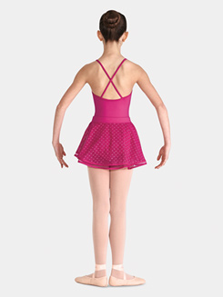 Child Heart Mesh Pull-On Ballet Skirt