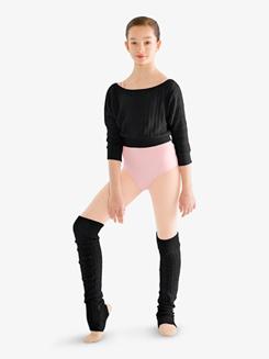 Girls Cable Knit Thigh High Legwarmers