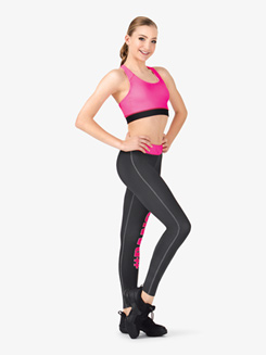 Adult Sublimated Dance 2-Tone Legging Pants