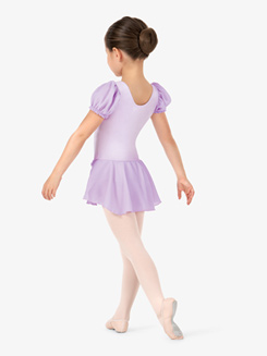 Girls Puff Short Sleeve Ballet Dress
