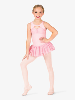 Girls Ballet Bolero Style Lace Tank Dress
