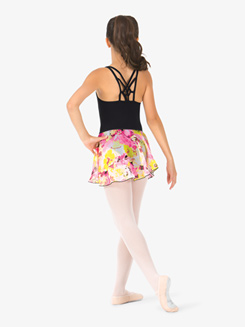 Girls Flower Print Pull-On Ballet Skirt