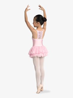 Girls Pleated Chiffon Camisole Ballet Dress