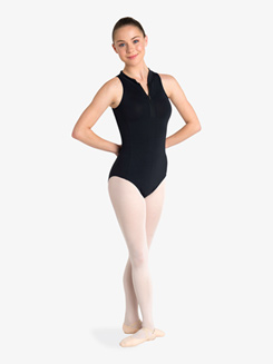 Womens Half-Zip Front Tank Leotard