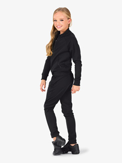 Girls Team Full Zipper Long Sleeve Jacket