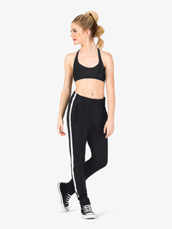Womens Team Full Length Striped Jogger Pants