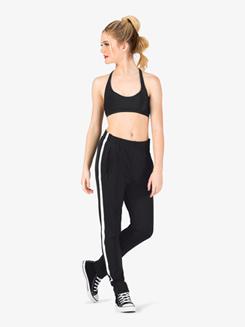 Womens Team Full Length Striped Jogger Pants
