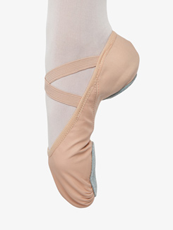 Girls Stretch Leather Split Sole Ballet Shoes