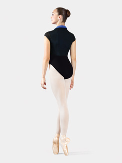 Adult Bolshoi Stars Collection Cap Sleeve Powermesh Zip Front Leotard