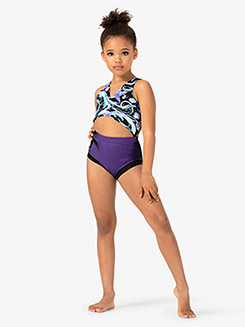 Girls Seashell Pattern Tank Leotard