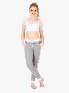 Womens Mesh Insert Active Sweat Pants