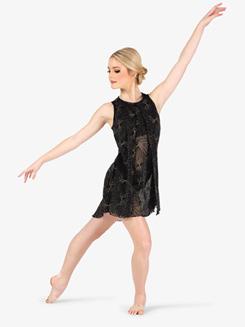 Womens Performance Glitter Burst Tank Dress