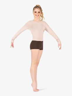 Womens Back Cutout Warm Up Sweater