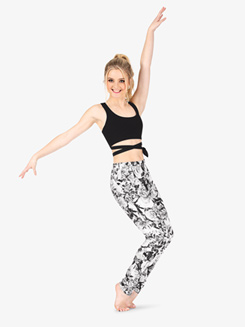 Womens Floral Print Fitness Pants