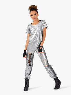 3d53b0aafd625 Elisse by Double Platinum Womens Crop Top and Harem Pant Hip-Hop Costume Set  Item: EL133