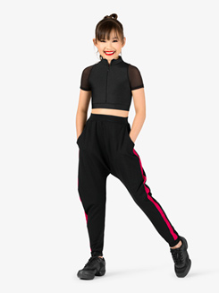 Girls Crop Top and Harem Pant Hip-Hop Costume Set